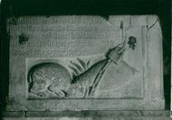 Lund Cathedral. Relief in the crypt
