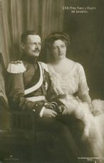 Prince Franz of Bavaria with the princess Isabella Antonie of Croÿ
