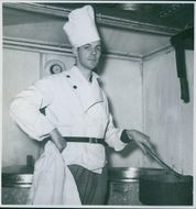 The cook on the Danish state ferry 'Storebaelt that was later Hijacked by Danish freedom fighters and taken to Helsingborg 1944.