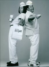 """A photo of Kel Mitchell as Ed and Kenan Thompson as Dexter Reed in the film """"Good Burger"""". 1997."""