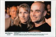 Andre Agassi together with the girlfriend Steffi Graf.
