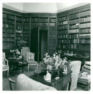 The late Lord Rosebury's octagonal library, Mentmore Towers.