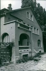 Home of Carl Schuricht in Corseaux Vevey.  - 1963