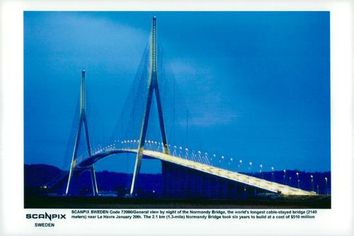 "View of the Normandy bridge ""Pont de Normandie"" n - Miscellaneous"