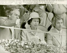 The British Queen Elizabeth II in the audience - the Olympic Games in Montreal in 1976