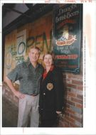 The 1994 Northridge earthquake USA:philip and ruth elwell owners of the ye olde kings head.