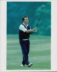 The Swedish golfer Fredrik Jacobsen in an unknown contest.