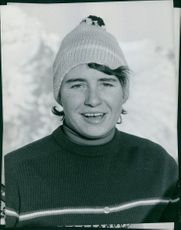 Portrait of Marielle Goitschel, 1963.