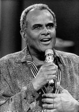 Harry Belafonte, giving speech.