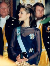 Princess Victoria at the gala dinner of Russian President Boris Yeltsin