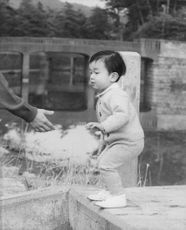 Picture of Naruhito as a baby. Son of Prince Akihito and Princess Michiko of Japan.