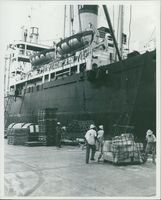 Off-loading SS Trans-Caribbean Ship.