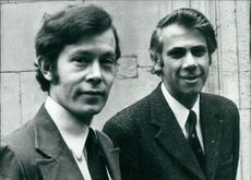 Christopher John Holmes with his friend Douglas Tilbe.