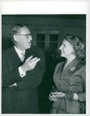 Foreign Minister's dinner for Miss Truman, here with Prime Minister Lindell