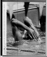 Gunnar Larsson won gold and scored world record of 200m medley in the Olympic Games.
