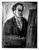 A painting by artist Carl Kylberg, self portrait.
