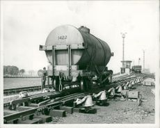 A tanker truck  in the new temple mills marshalling yards