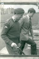 Prince andrew with col leslie hudson. .