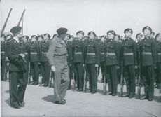 Field Marshal Montgomery together with the British Army