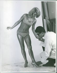 A lady wearing swim suit during a pictorial.