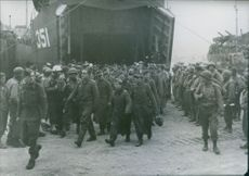 German Soldiers On Way To Allied Prison Camp. 1944