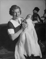 Anna-Lisa Bjorling with her baby.