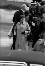 Queen Elizabeth on arrival in San Francisco