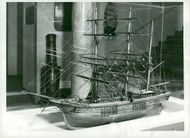 The Maritime Museum: The model of a three-stroke bark,