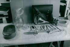 Surgical equipment placed on table, in Vietnam