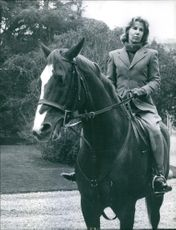 "The Duchess of Alba, Maria de Alba, riding a horse.  ""Maria de Alba""  1963"