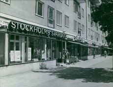 A view of the bank Stockholms Sparbank.