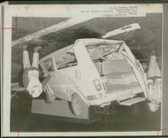 road accidents:the upturned minibus.