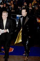 "Mickey Rourke arrives at the film premier of ""Goldeneye""."