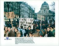 French university students protest in protest against the Debre immigration bill