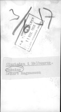 Portrait image of the fighter Lennart Magnusson taken in an unknown context.