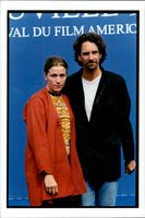 Portrait of actress Frances MacDormond together with Joel Coen