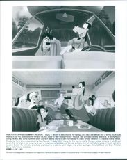 """Two scenes from  a 1995 American animated musical road comedy film, """"A Goofy Movie""""."""