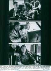 """A photos of Harry Joseph Lennix and Isaiah Washington in a film """"Get on the Bus"""" -  is an American actor.  A photos of cast inside the bus in a film """"Get on the Bus"""" - 1996"""