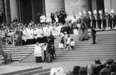 Pope Paul VI in a ceremony.