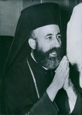 A photo of Archbishop Makarios III of Cyprus.