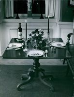 View of a dining table decorated properly.