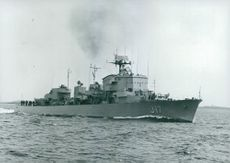 HMS Uppland Navy destroyer, won the trophy Princess and Philip Prize