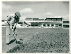 Cricket (1982)On the grace road leicestershire pitch.