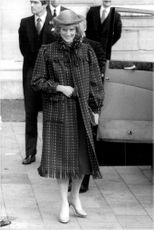 Princess Diana leaves Guildhall after lunch with Prince Charles.