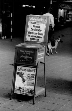 Newspaper stand in Nuremberg