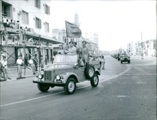 A parade of soldiers. July 20, 1961