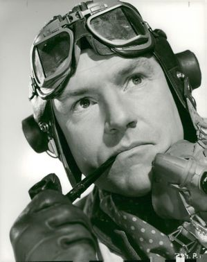 "Kenneth More in the movie ""Reach for the Sky"""