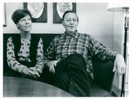 Jarl Hjalmarsson, former party leader for the moderates with his wife Eyvor