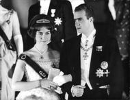 Juan Carlos I with his wife Sophia.