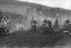 A motor cross competition.